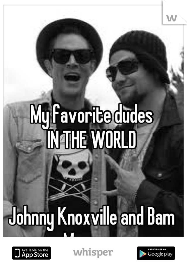 My favorite dudes IN THE WORLD   Johnny Knoxville and Bam Margera