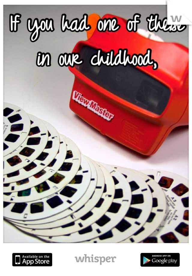 If you had one of these in our childhood,      You were awesome!!