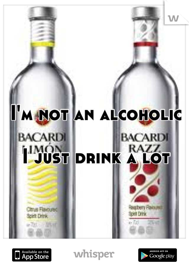 I'm not an alcoholic  I just drink a lot