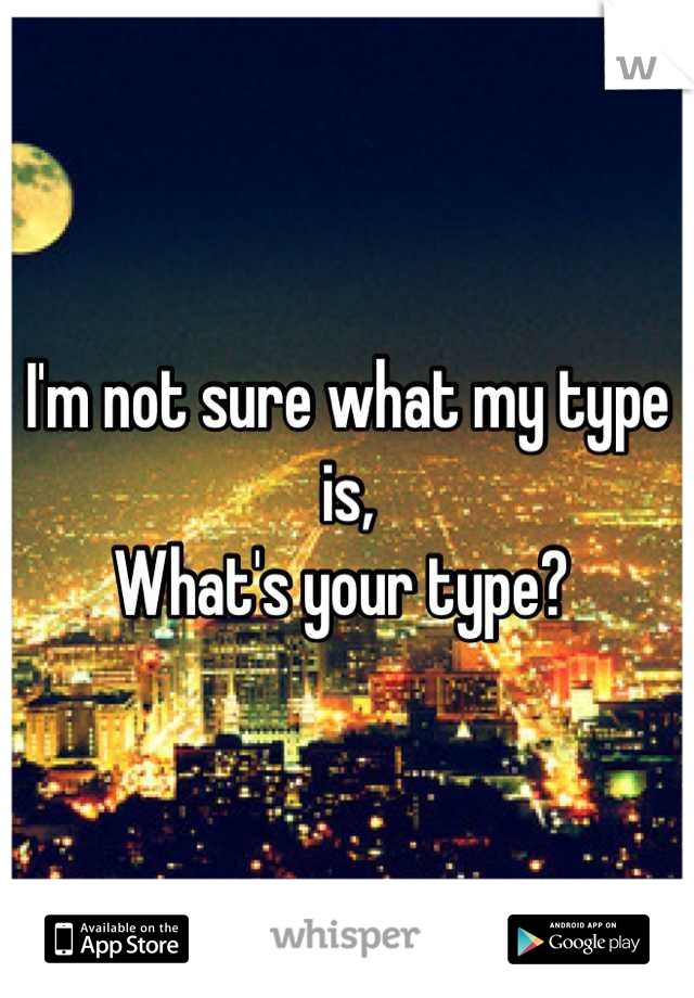 I'm not sure what my type is, What's your type?