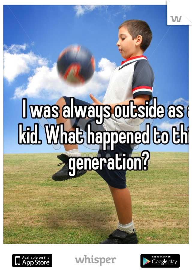 I was always outside as a kid. What happened to this generation?