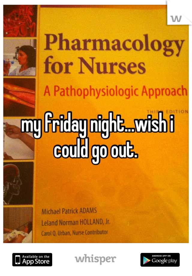 my friday night...wish i could go out.