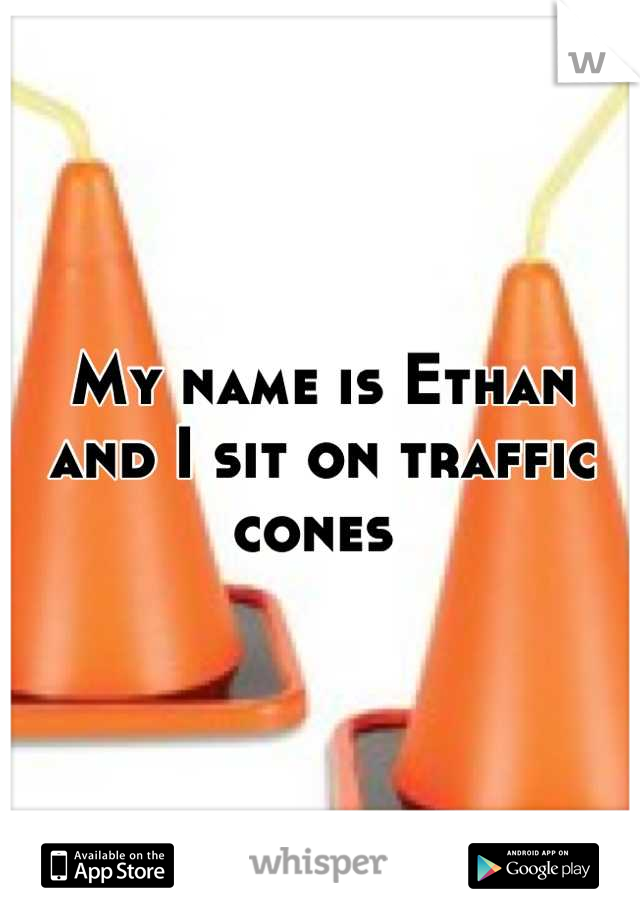 My name is Ethan and I sit on traffic cones
