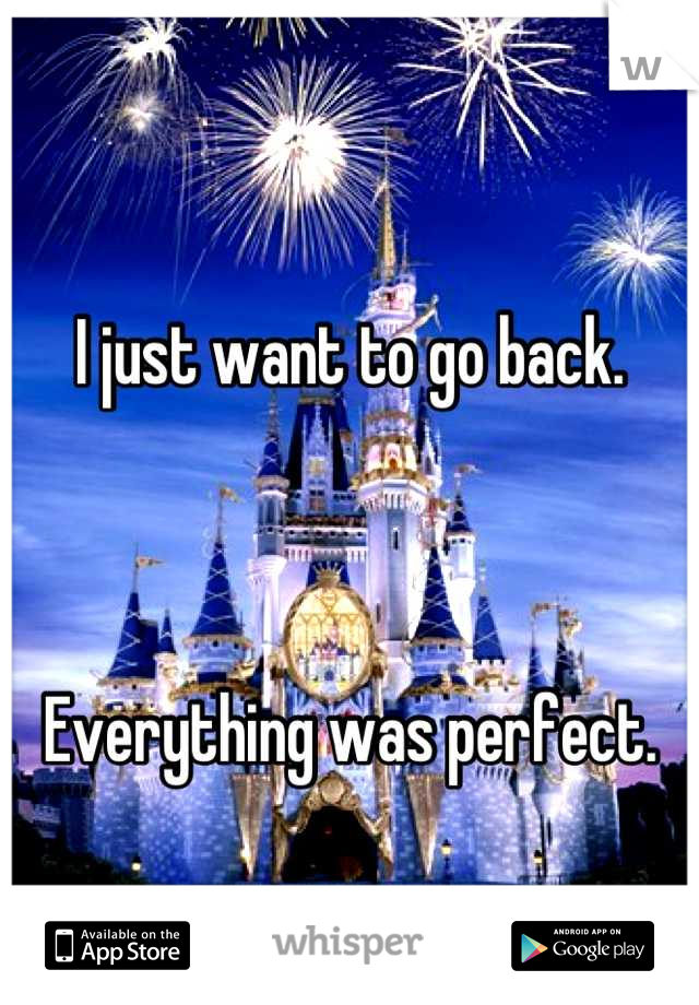 I just want to go back.     Everything was perfect.