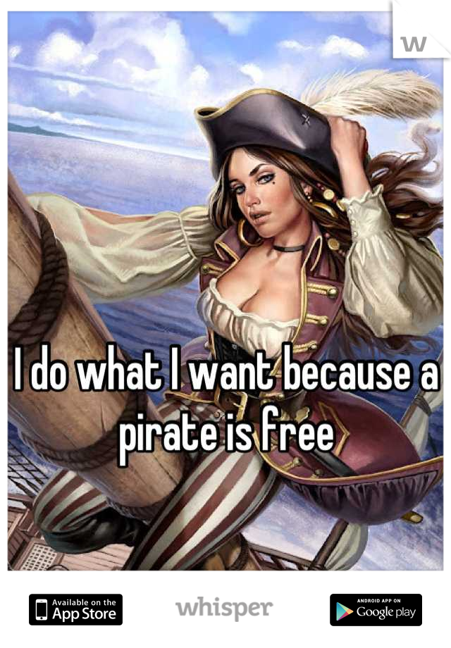 I do what I want because a pirate is free