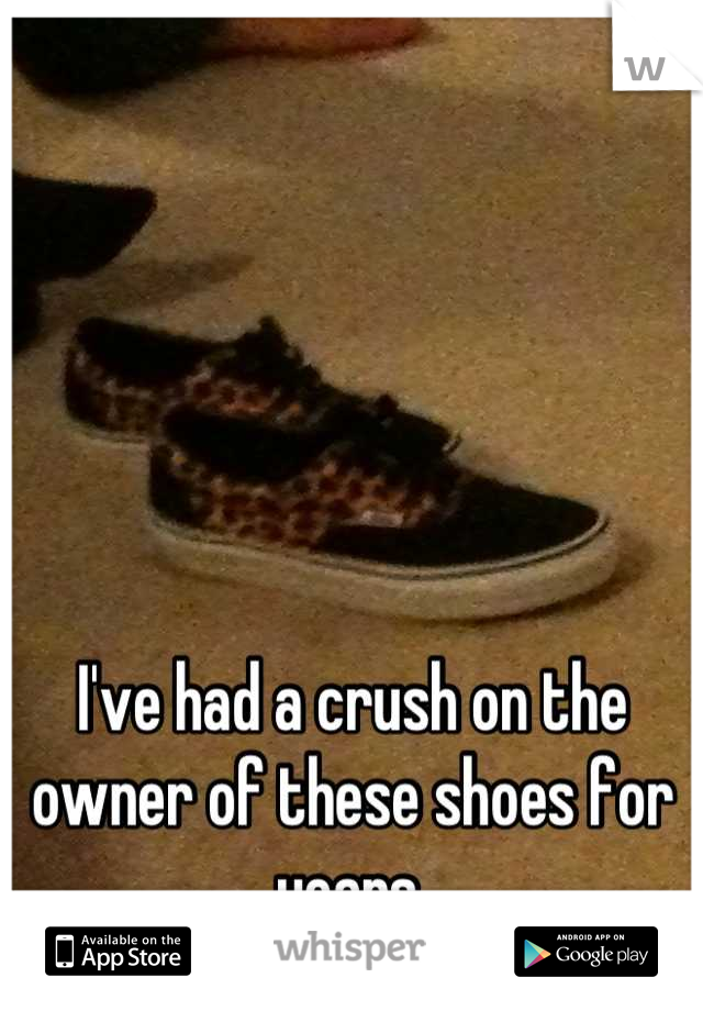 I've had a crush on the owner of these shoes for years.