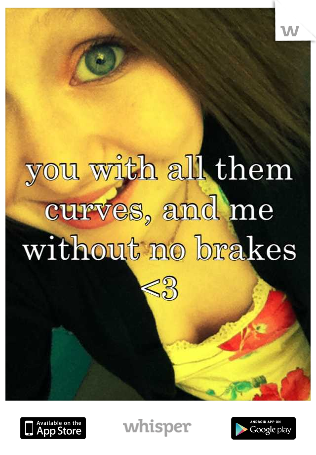 you with all them curves, and me without no brakes <3