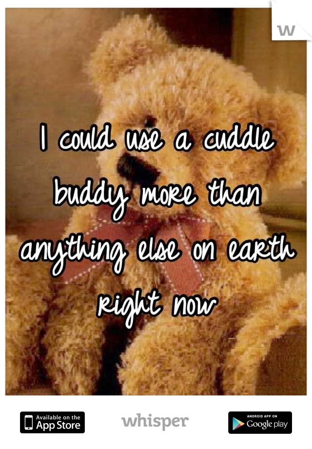 I could use a cuddle buddy more than anything else on earth right now