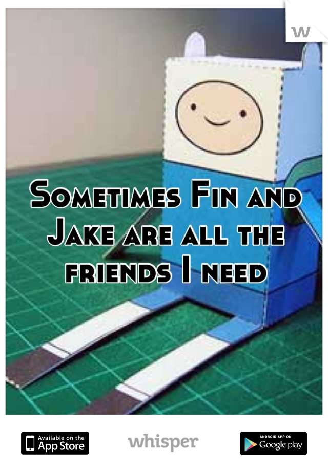 Sometimes Fin and Jake are all the friends I need
