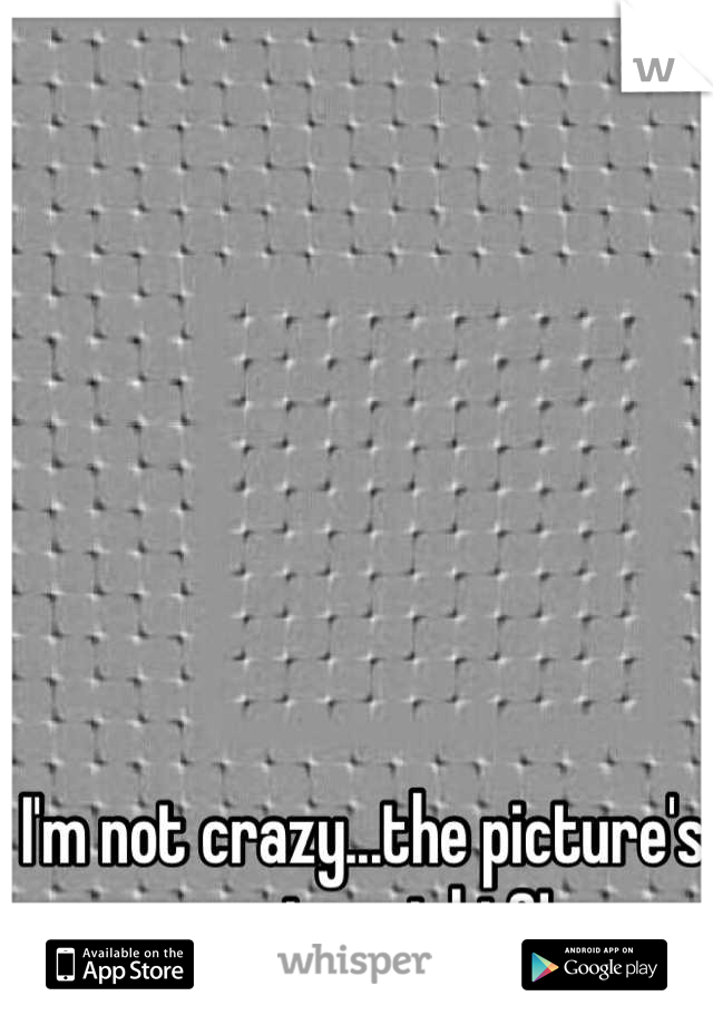 I'm not crazy...the picture's moving, right?!