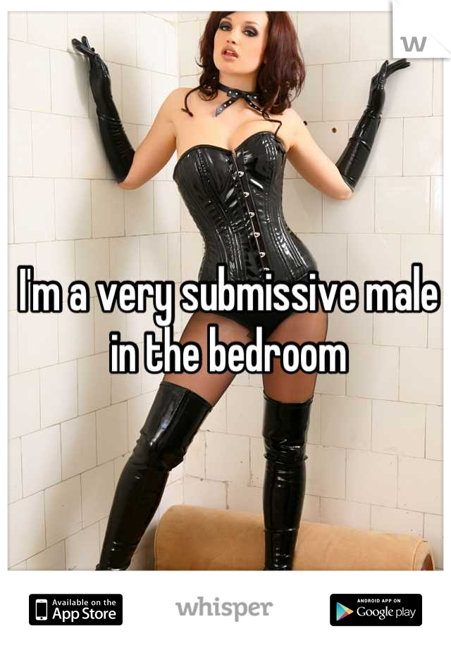 I'm a very submissive male in the bedroom