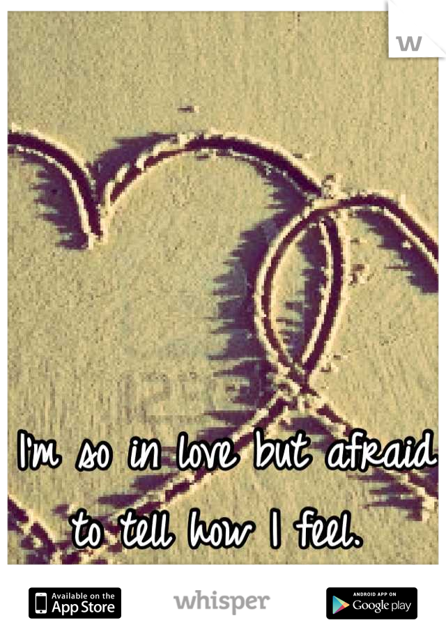 I'm so in love but afraid to tell how I feel.