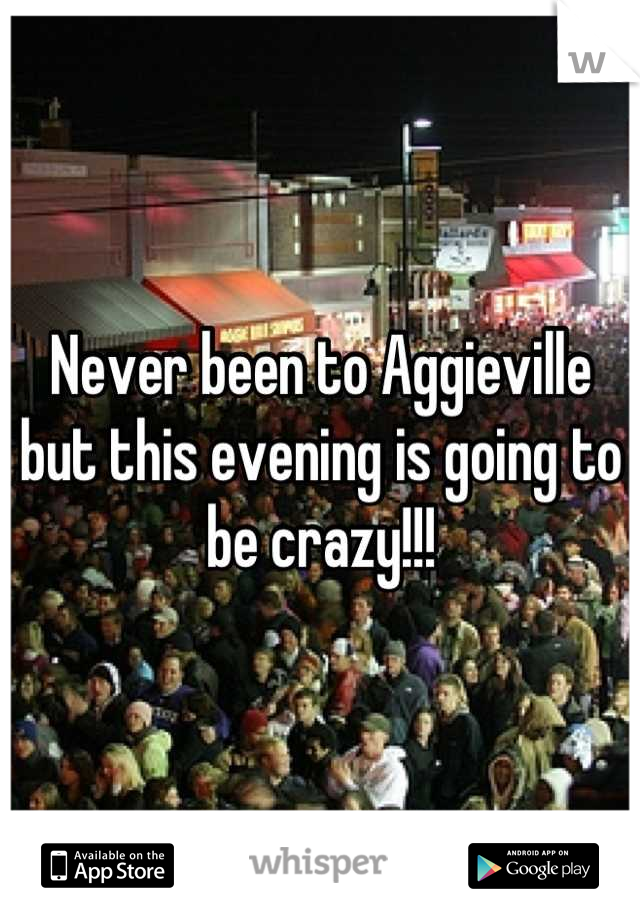 Never been to Aggieville but this evening is going to be crazy!!!