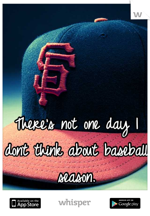 There's not one day I dont think about baseball season.