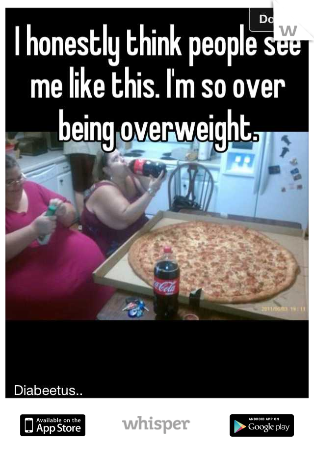 I honestly think people see me like this. I'm so over being overweight.