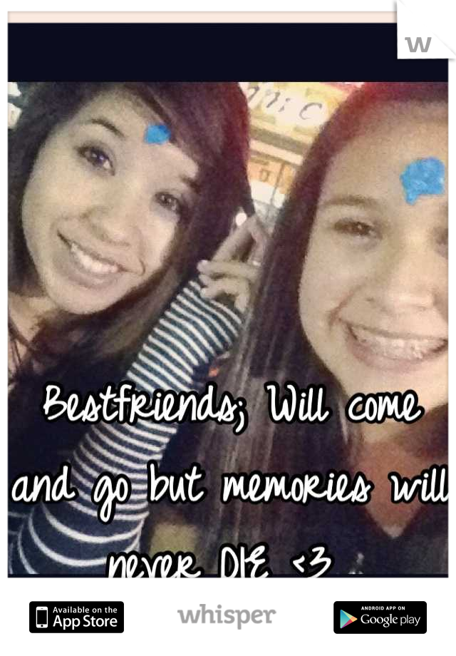 Bestfriends; Will come and go but memories will never DIE <3