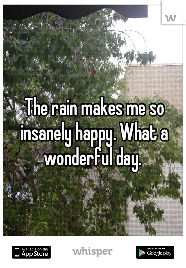 The rain makes me so insanely happy. What a wonderful day.