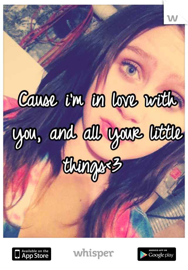 Cause i'm in love with you, and all your little things<3