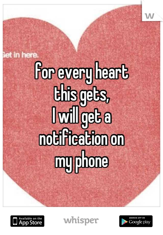 for every heart this gets, I will get a  notification on my phone