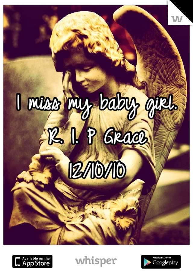 I miss my baby girl.  R. I. P Grace  12/10/10