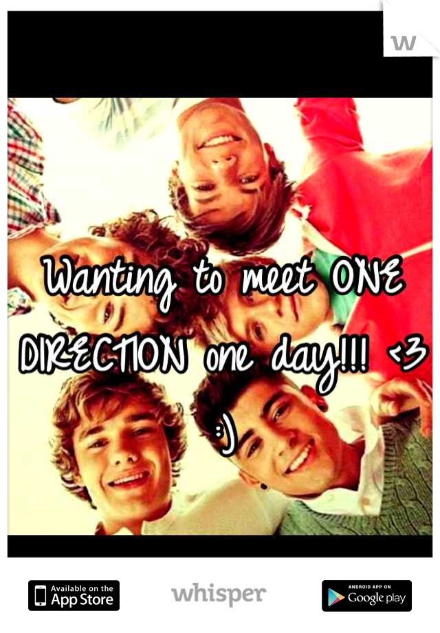 Wanting to meet ONE DIRECTION one day!!! <3 :)