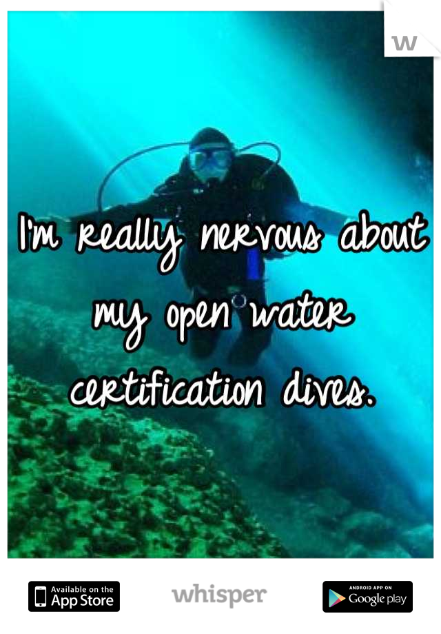 I'm really nervous about my open water certification dives.