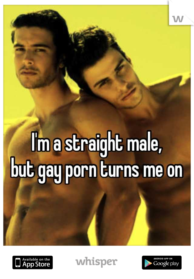 I'm a straight male,  but gay porn turns me on