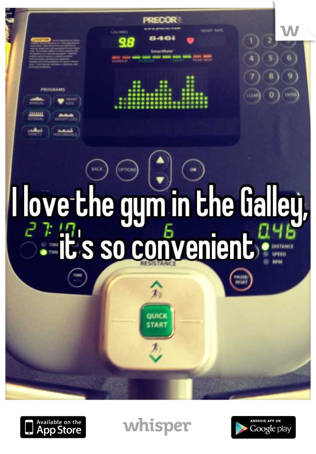 I love the gym in the Galley, it's so convenient