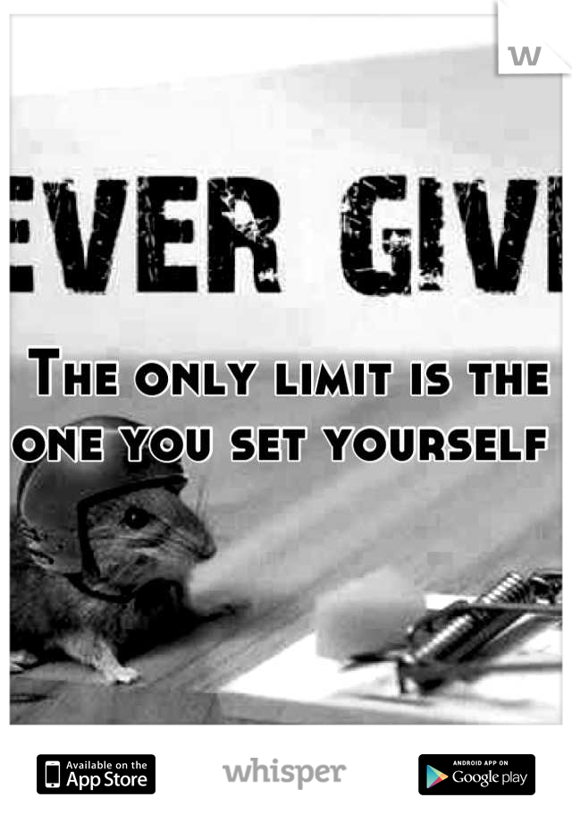 The only limit is the one you set yourself