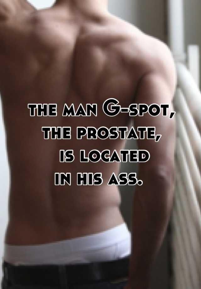 Wheres a males g spot