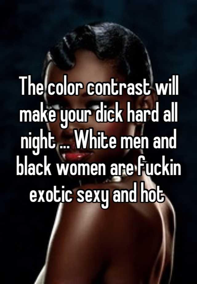 sexy black women and white men