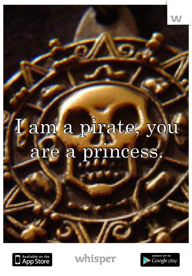 I am a pirate, you are a princess.