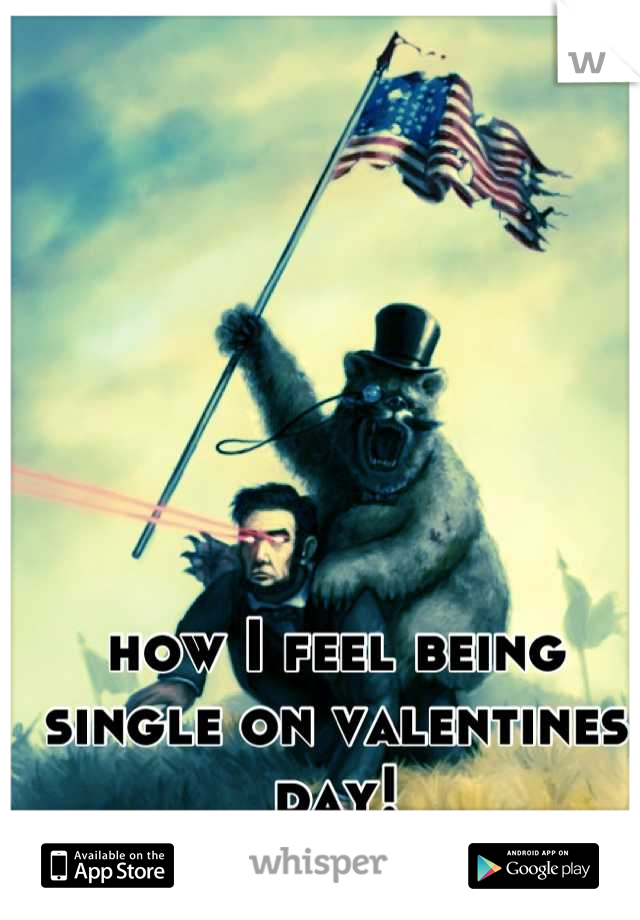 how I feel being single on valentines day!