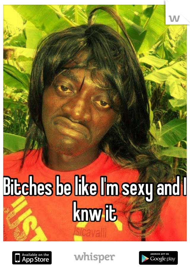 Bitches be like I'm sexy and I knw it