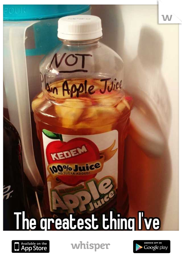 The greatest thing I've ever seen in my fridge!!!