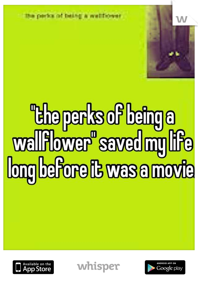 """the perks of being a wallflower"" saved my life long before it was a movie."
