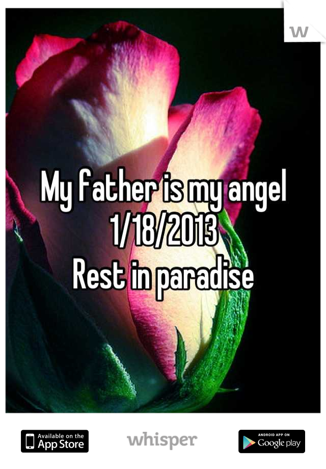 My father is my angel 1/18/2013 Rest in paradise