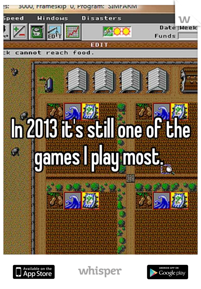 In 2013 it's still one of the games I play most.