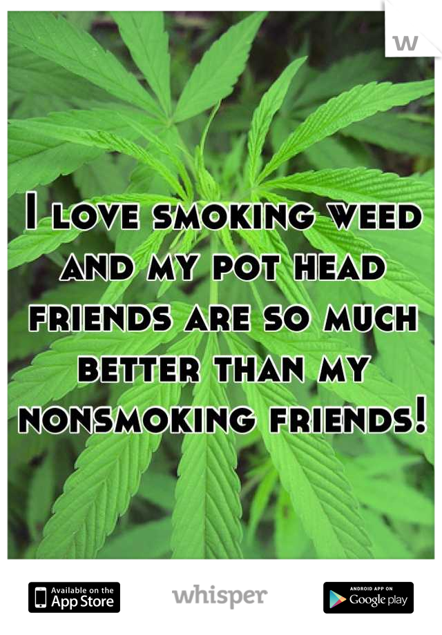I love smoking weed and my pot head friends are so much better than my nonsmoking friends!