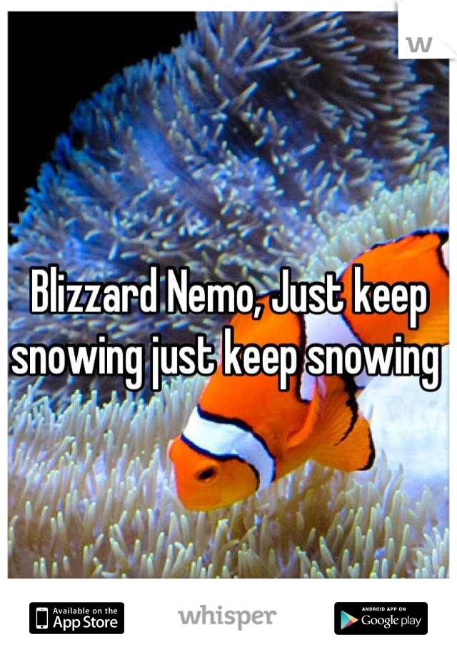 Blizzard Nemo, Just keep snowing just keep snowing
