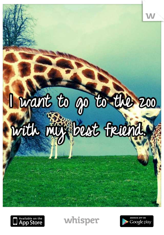 I want to go to the zoo with my best friend.