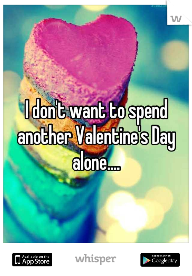 I don't want to spend another Valentine's Day alone....