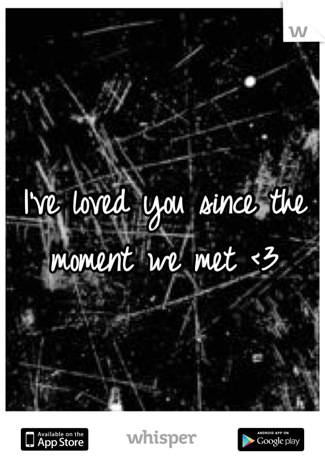 I've loved you since the moment we met <3