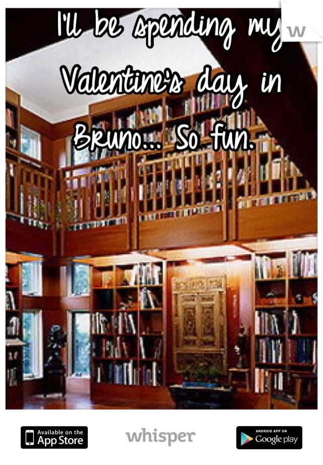 I'll be spending my Valentine's day in Bruno... So fun.