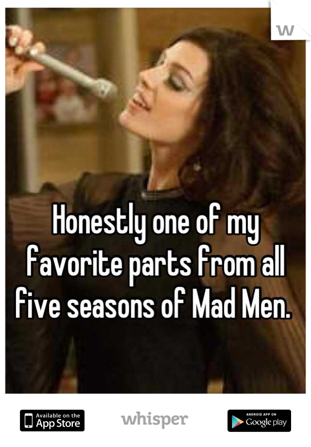 Honestly one of my favorite parts from all five seasons of Mad Men.
