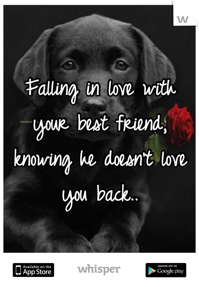 Falling in love with your best friend, knowing he doesn't love you back..