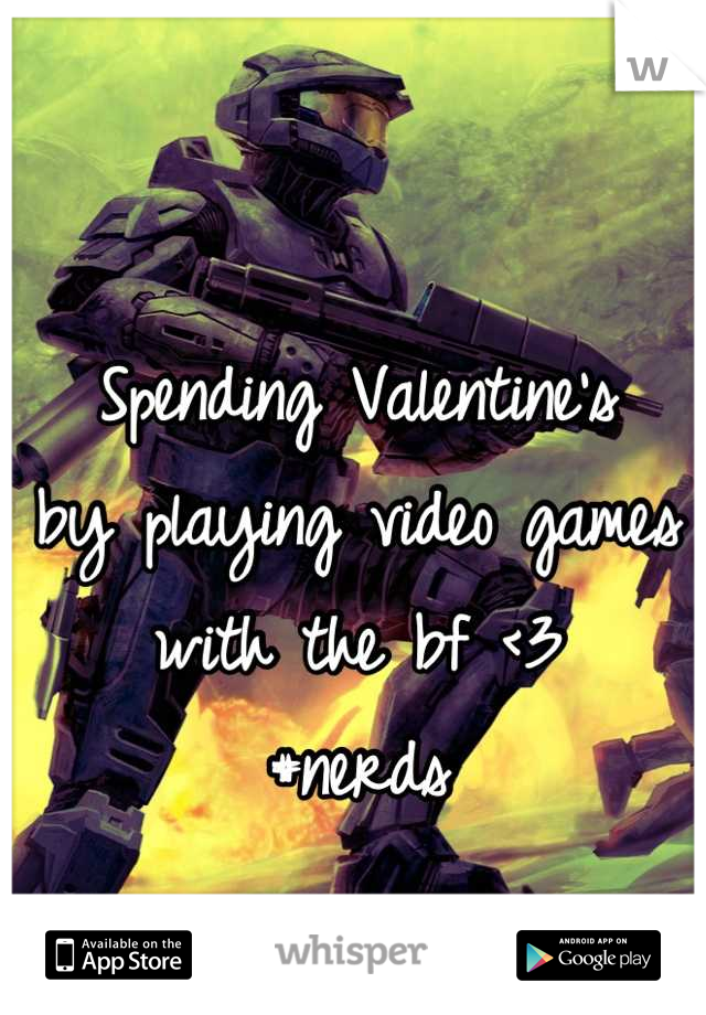 Spending Valentine's by playing video games with the bf <3 #nerds