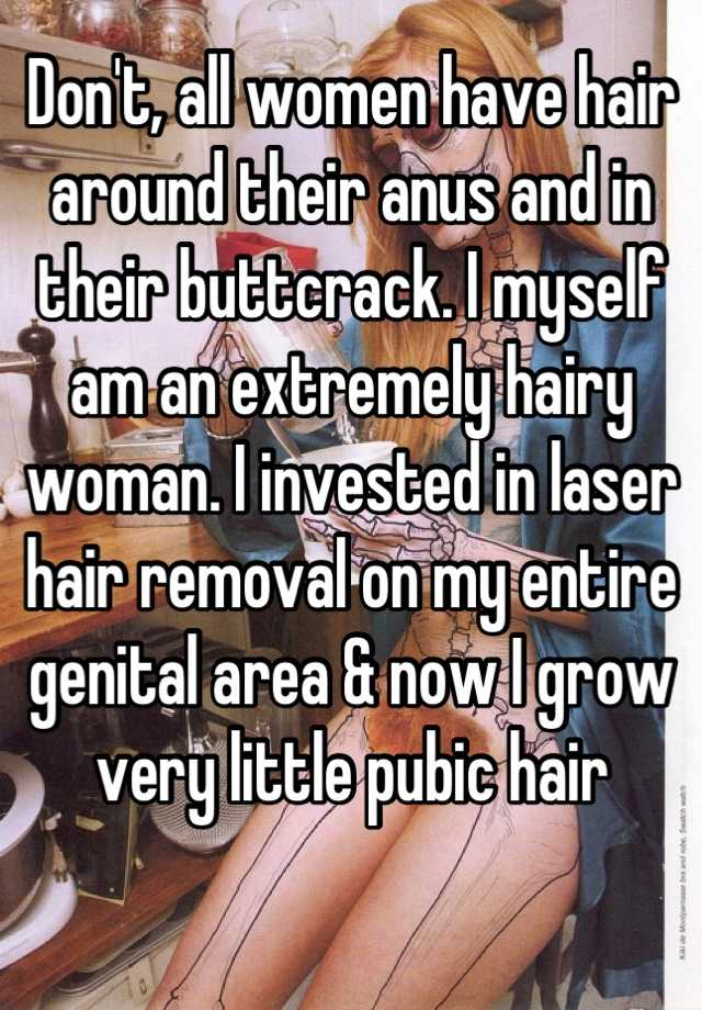 Picture of women with hair around anus