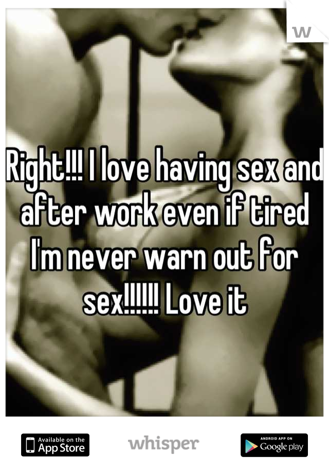 Why am i tired after sex