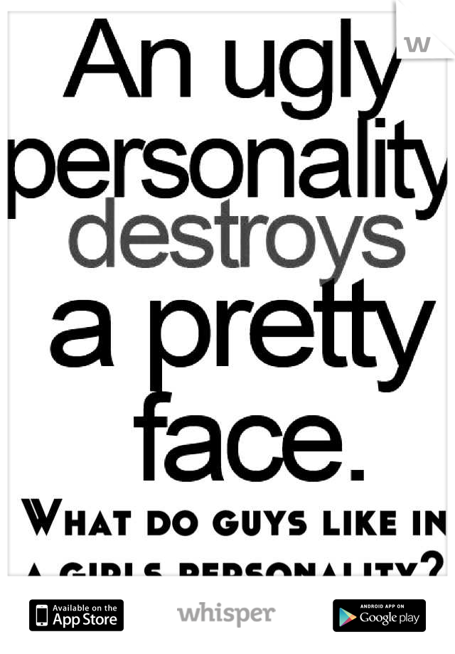 What do guys like in a girls personality?